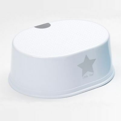 Strata Deluxe Step Up Toddler Stool White Star Sink Reach Step Toilet Training