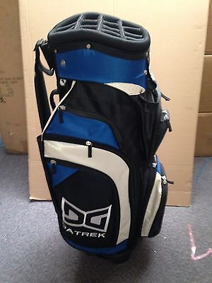 *NEW*  Golf cart trolley bag 14 way divider blue 9 pockets 1