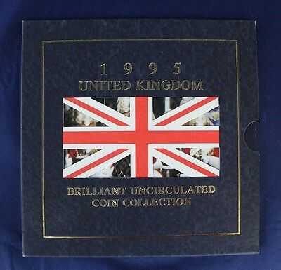 1995 Royal Mint 8 coin uncirculated set in folder    (A10/75)