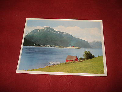 VINTAGE NORWAY: ROMSDALFJORD panorama colour SHIP