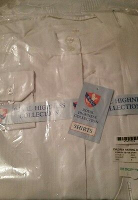 royal highness collection long sleeve size 8 childs show shirt nwt