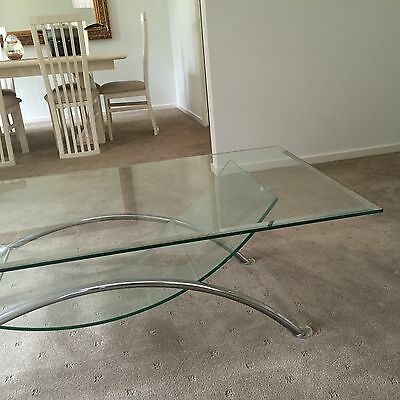 3 Pieces glass Coffee Table, Lamp Table & Console