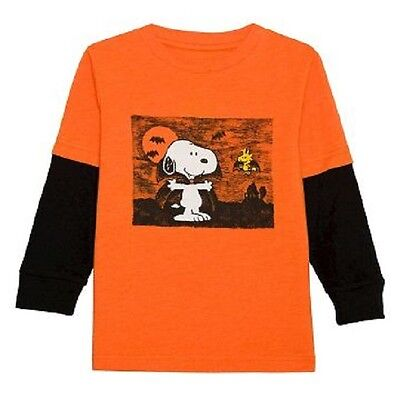 Peanuts Long Sleeve Halloween Shirt For Toddler Boys~Size 2T~New With Tags