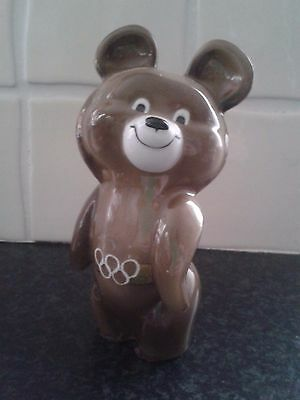 Vintage Russian Misha Bear Olympic Moscow 1980 - 6 inches