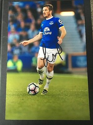 Leighton Baines Everton Fc Toffees Hand Signed 12X8 Photo Goodison Park