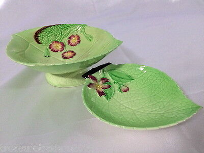 ♡ 2 CARLTON WARE JAM TRINKET PIN DISHES (one is footed)