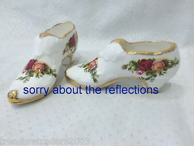🌟 Old Country Roses Royal Doulton Pair Of Slipper Shoes