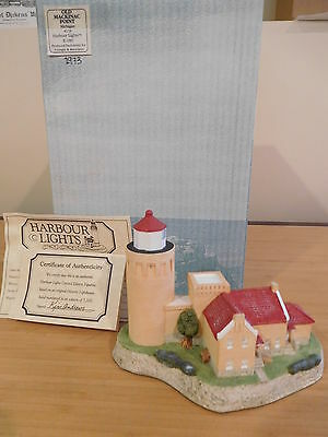 161) Harbour Lights Lighthouse - Old Mackinac Point, Michigan #118 -NIB Signed