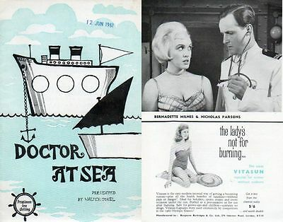 """Bristol Hippodrome 1961 """"Doctor at Sea"""" by Ted Willis Nicholas Parsons"""
