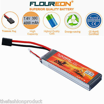 2S 7.4V 4000mAh 30C LiPo Battery Pack Traxxas for Car Truck Airplane Helicopter