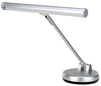Digital Piano Led Music Stand Desk Lamp Light 36Cm Aa Batteries Usb Silver Matt