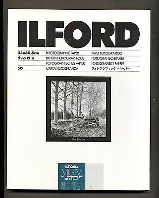 Carta fotografica bianco e nero Ilford 24x30 Multigrade Perla 50f  black  white
