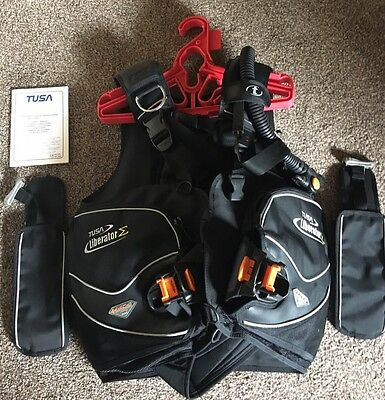 Tusa Liberator BCD Scuba Diving size Large with Integrated weight Great Cond
