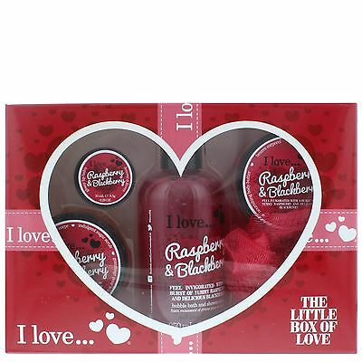 I Love... Raspberry & Blackberry The Little Box Of Love Gift Set For Her
