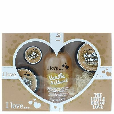 I Love... Vanilla & Almond The Little Box Of Love Gift Set For Her