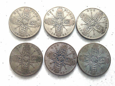 6 x King George V Florins 1923 (50% silver content)