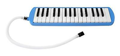 Melodica Wind Instrument Organ 32 Keys Tube Set With Mouthpiece Carry Bag Blue