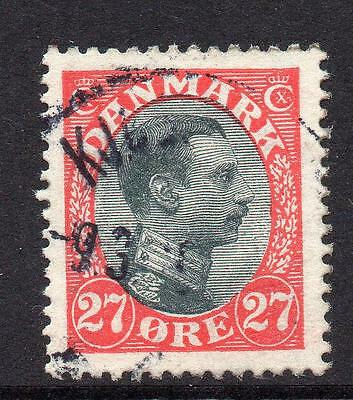 Denmark 27 Ore Stamp c1913-28 Used