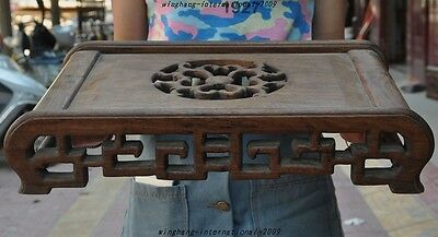 Old Chinese Huanghuali Wood Hand-Carved Tea Tables Desk coffee table Side table