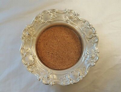 Vintage Towle Old Master Silver Plate Wine/Champagne Coaster 4079