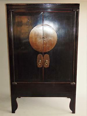 Antique Chinese Cabinet Black Lacquer c1900