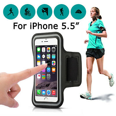 Apple iPhone 7/ 6s Plus Sports Gym Running Jogging Armband Case Cover Holder Bag