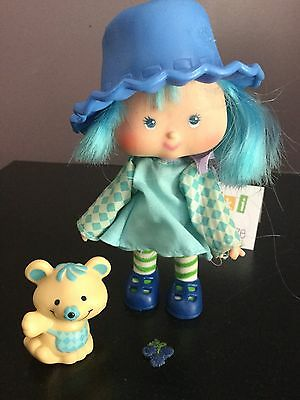 Vtg Strawberry Shortcake Doll Blueberry Muffin & Cheesecake Mouse