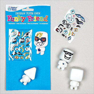Design Your Own Funky Friend - Perfect Party Bag Filler for Children (Pack of 4)