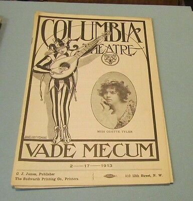 1913 The Yellow Jacket A Chinese Play Columbia Theatre Program Washington DC