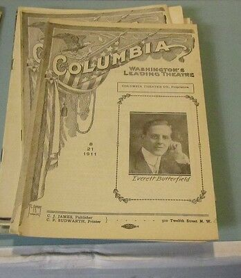 1911 The Liars Columbia Theatre Program Washington DC Everett Butterfield