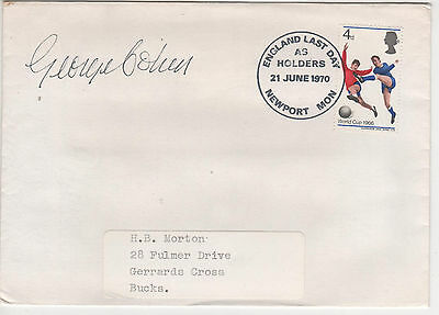 """"""" 1966 England Winners """" Envelope - Signed-  George Cohen"""