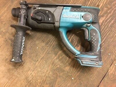 Used Makita Bhr202Z 18V Li-Ion  Cordless Sds Hammer Drill Tested And Working