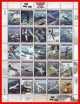 Marshall Is. 1998 Legendary Us Navy Planes  M/s #4 Mnh Wwii, Military