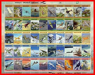 MARSHALL IS. 1990's/2004 LEGENDARY PLANES x7 M/S MNH WWI, WWII, MILITARY