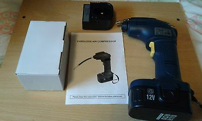 Rechargeable Cordless Air Compressor Tyre Inflator Pump 12V