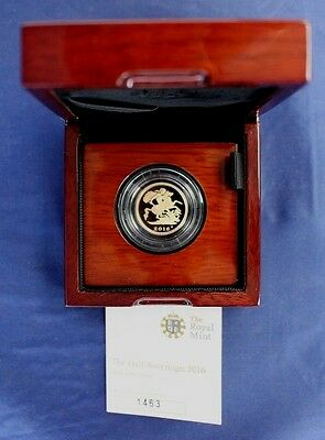 2016 Gold Proof Half Sovereign coin in Case with COA & Outer    (C5/1)