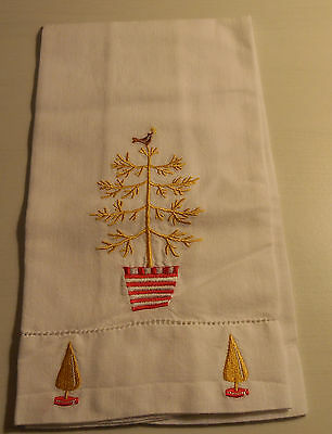 Golden Pear Tree handtowel Homemade, kitchen or bath, Holiday Decor