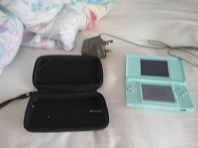 nintendo ds lite mint green barely used. In great condition