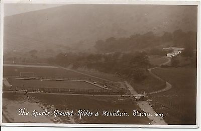Blaina Sports Ground, River & Mountain PPC used 1930's