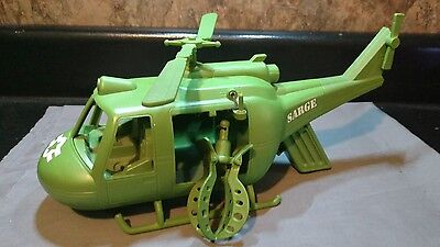 Disney Pixar Toy Story Sarge Army Green Huey Helicopter Talking & Rescue Claw