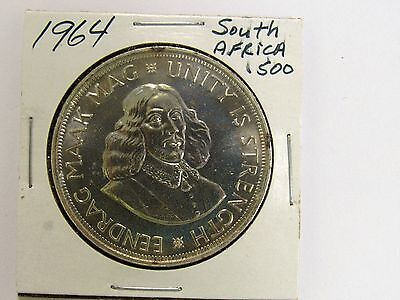South Africa Uncirculated 1964 Silver 50c Coin