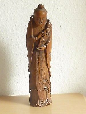 antique Chinese carved Bamboo statue Qing Dynasty, height 37 cm