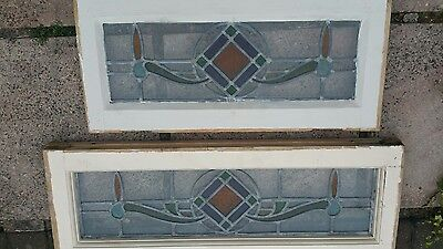 Two Immaculate Stained Glass Small Windows