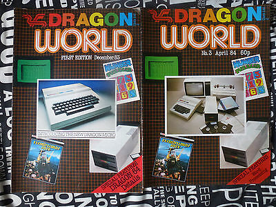 Two Dragon World Magazines ; 1st Edition December 1983 & No.3 April 1984