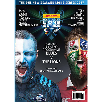BLUES v BRITISH & IRISH LIONS 2017 PROGRAMME