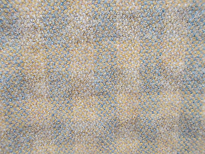 """52""""x27"""" wide  FELTED WOOL woven BLUE GOLD CHECK upholstery clothing FABRIC Craft"""