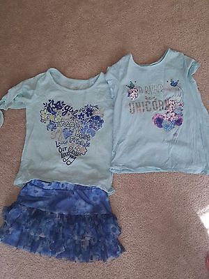 Girls Justice  3 pc. Summer Floral outfit Size 7 8. Shirt Skort/Skirt. CUTE