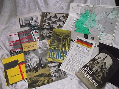 Collection of vintage GERMAN 1960's Tour Guide Holiday brochures