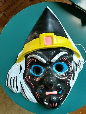 black witch ben cooper type vintage halloween mask