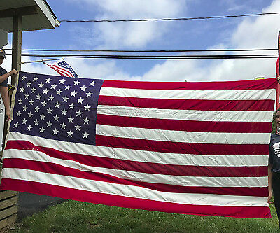 """50 Star American Flag Best Valley Forge Sewn USA Patriotic 9' 9"""" x 4' 4"""""""